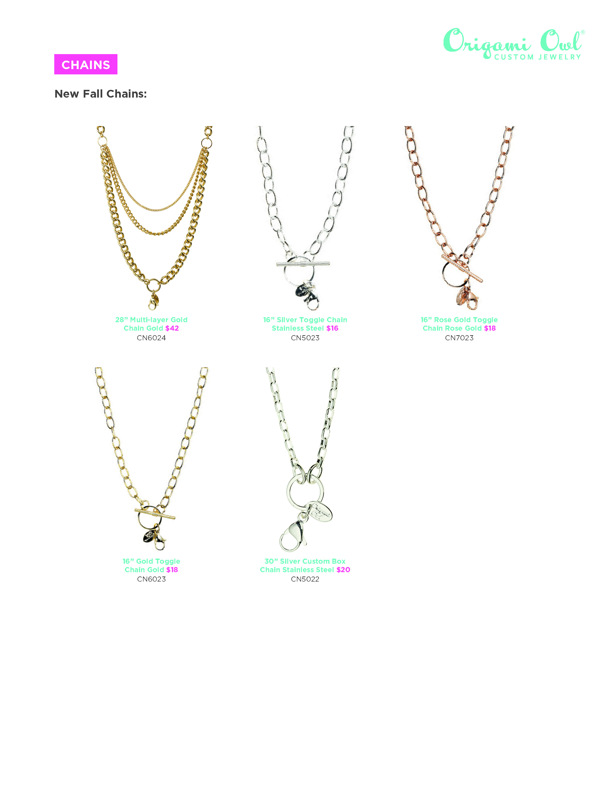 Origami Owl Over The Heart Chain Origami Owl Haute Hoot Page 2