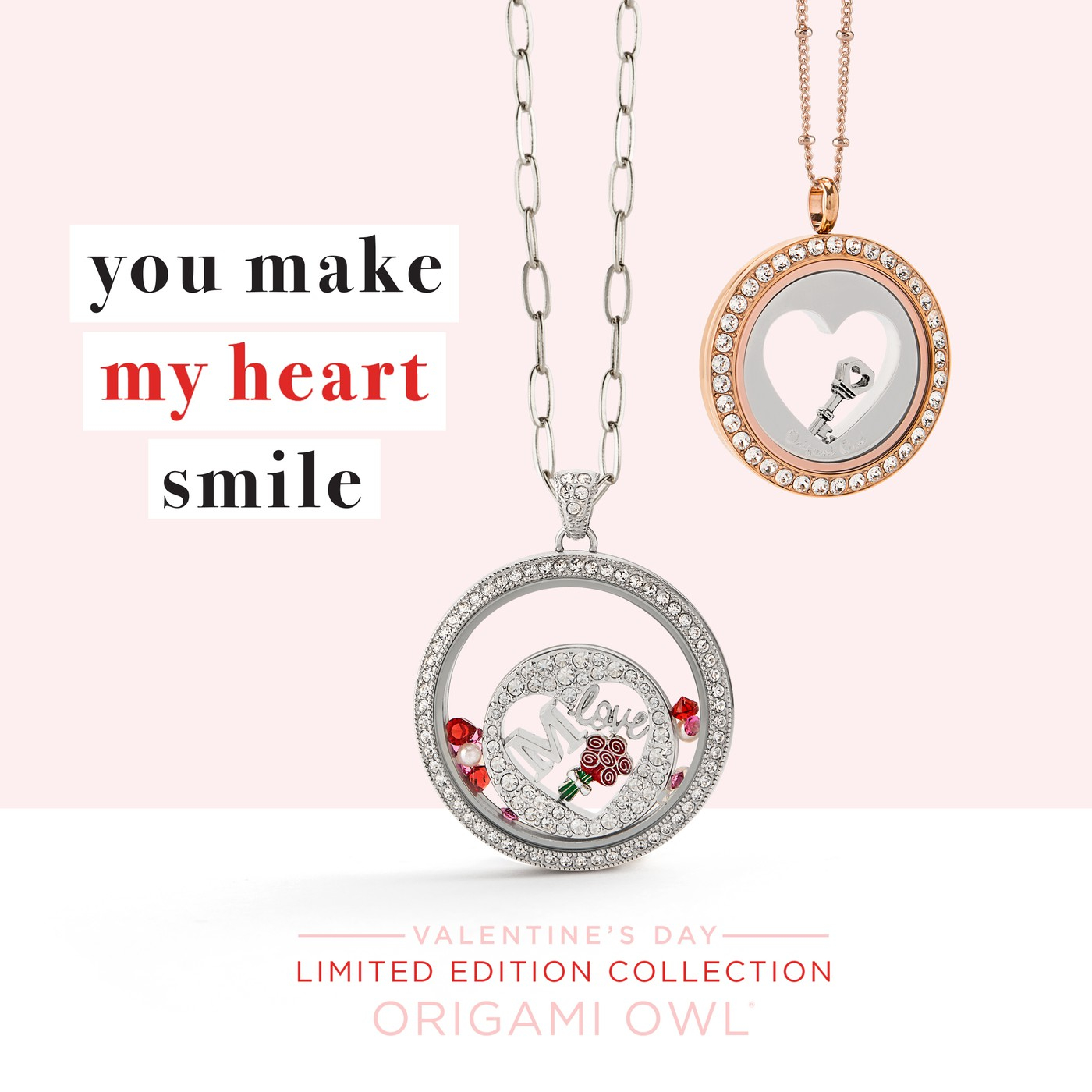 Origami Owl Over The Heart Chain Valentines Collection