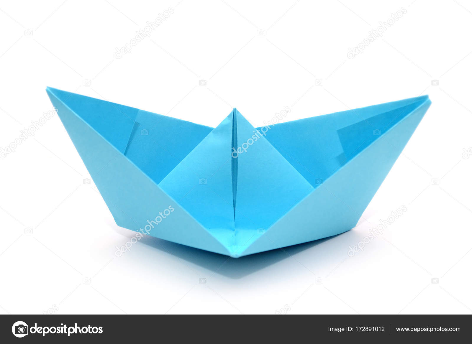 Origami Paper Boat Blue Paper Boat Origami Boat Isolated Stock Photo Luda311