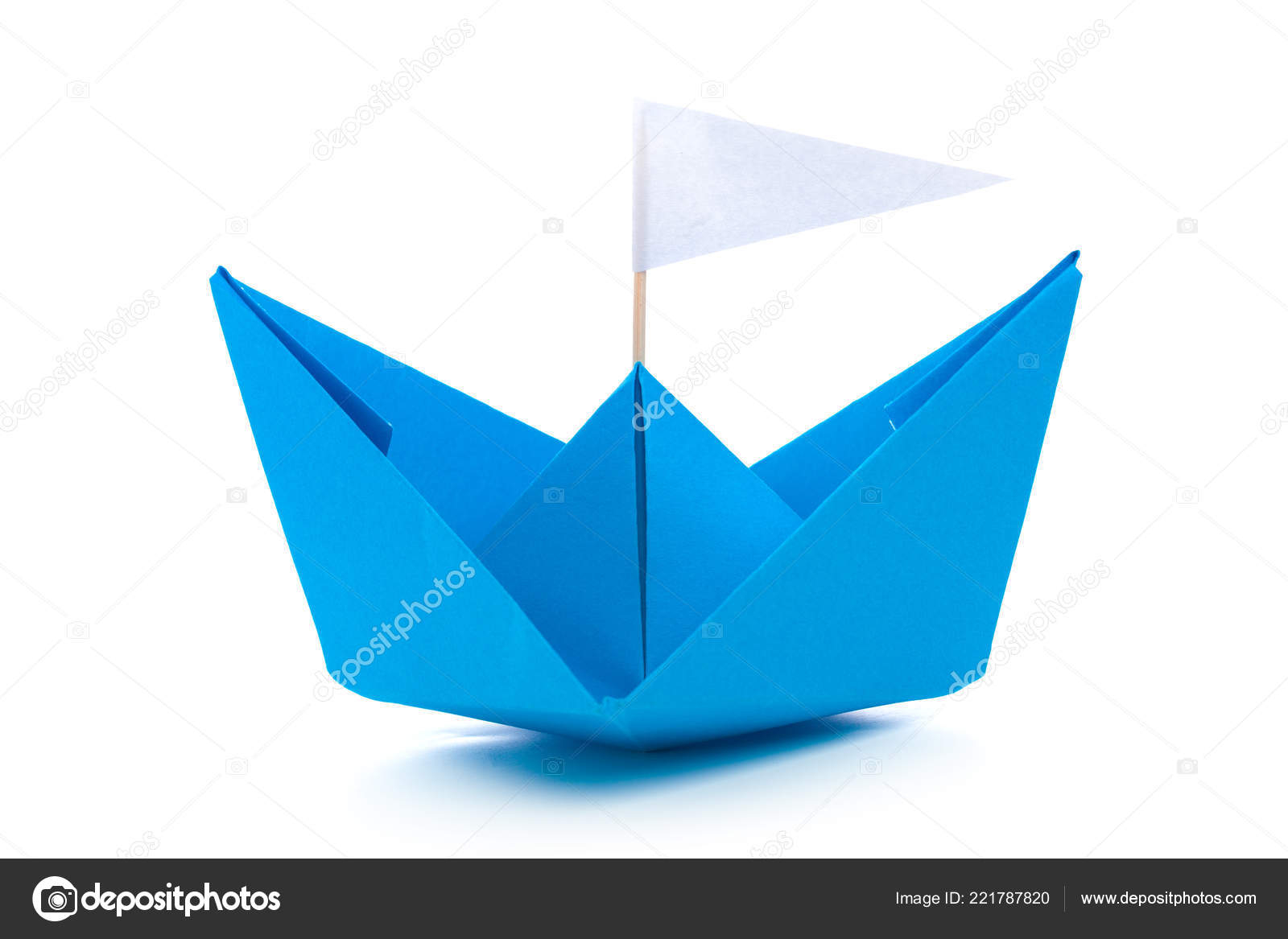 Origami Paper Boat Origami Paper Boat Isolated White Background Stock Photo