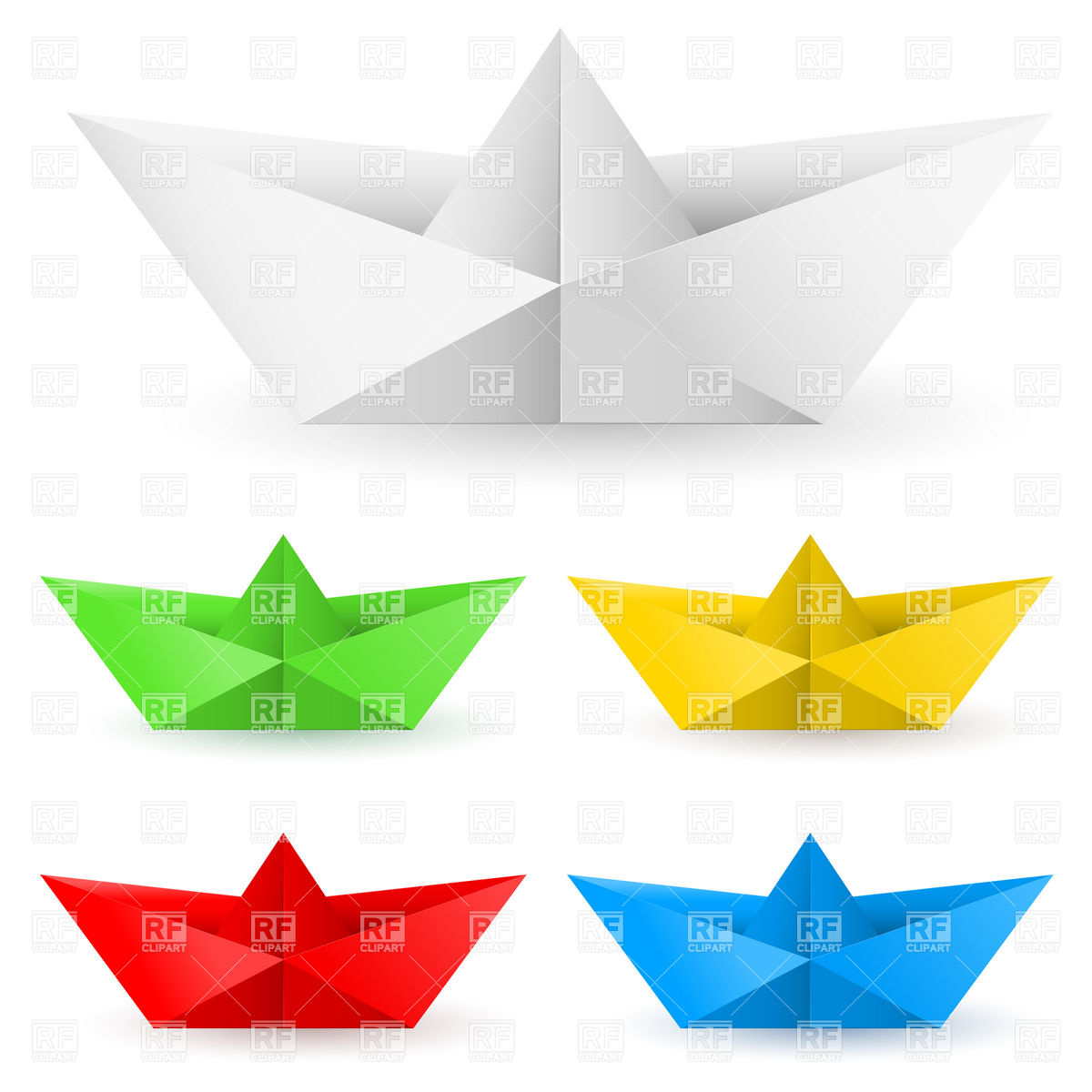 Origami Paper Boat Origami Paper Boats Stock Vector Image