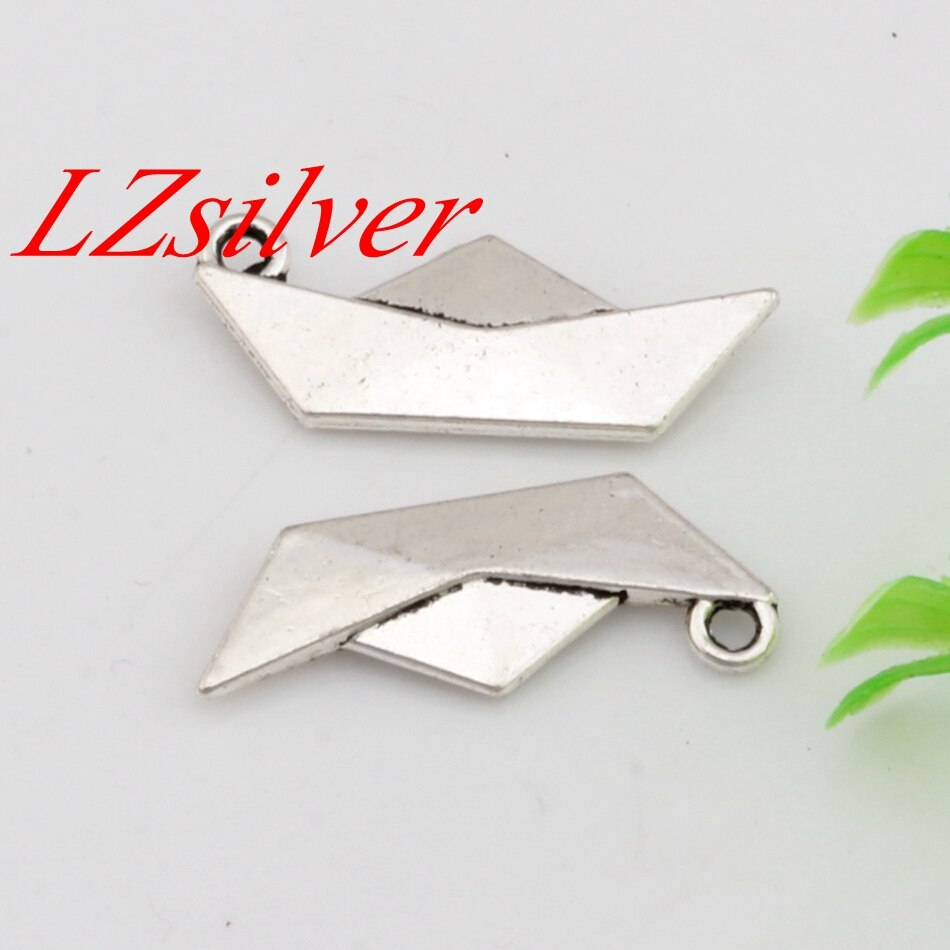 Origami Paper Boat Us 299 Hot Sale 10pcs 10x25mm Antique Silver Zinc Alloy Origami Paper Boat Folding Art Charm Diy Jewelry A 452 In Pendants From Jewelry