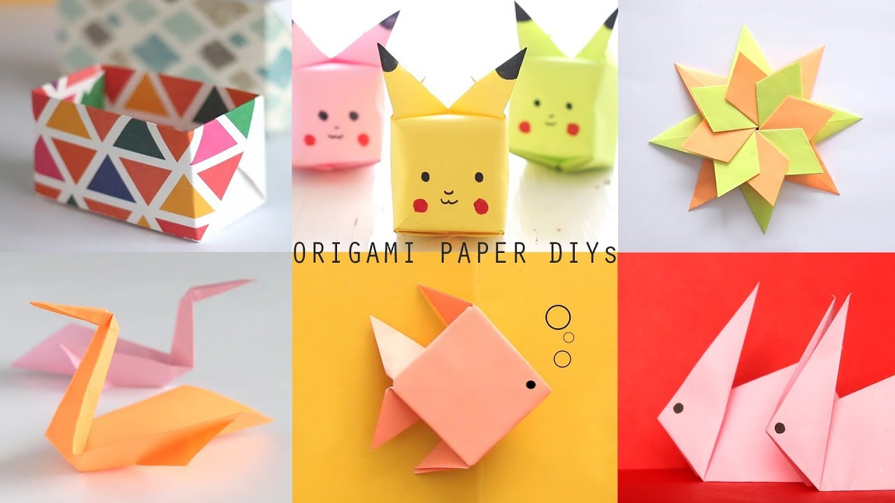 Origami Paper Images 6 Easy To Make Origami Paper Diys Craft Videos Art All The Way