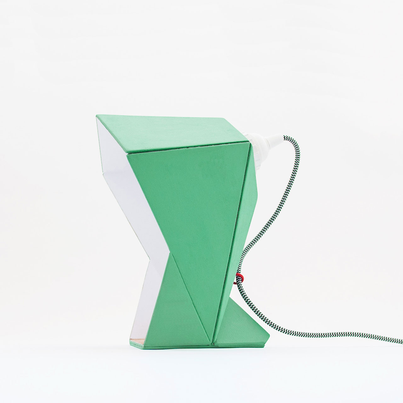 Origami Paper Images Capucha Light Mint Green White Origami Table Lamp