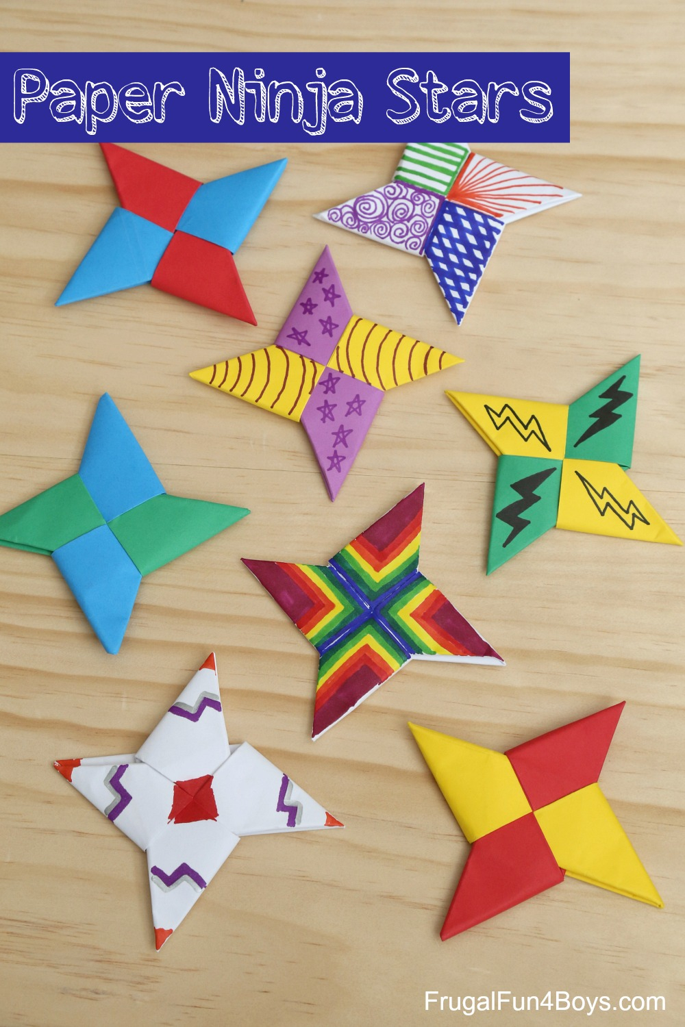 Origami Paper Images How To Fold Paper Ninja Stars Frugal Fun For Boys And Girls