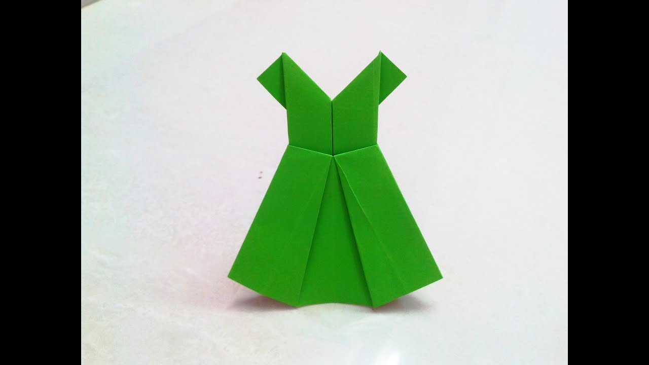 Origami Paper Images How To Make An Origami Paper Dress 2 Origami Paper Folding Craft Videos And Tutorials