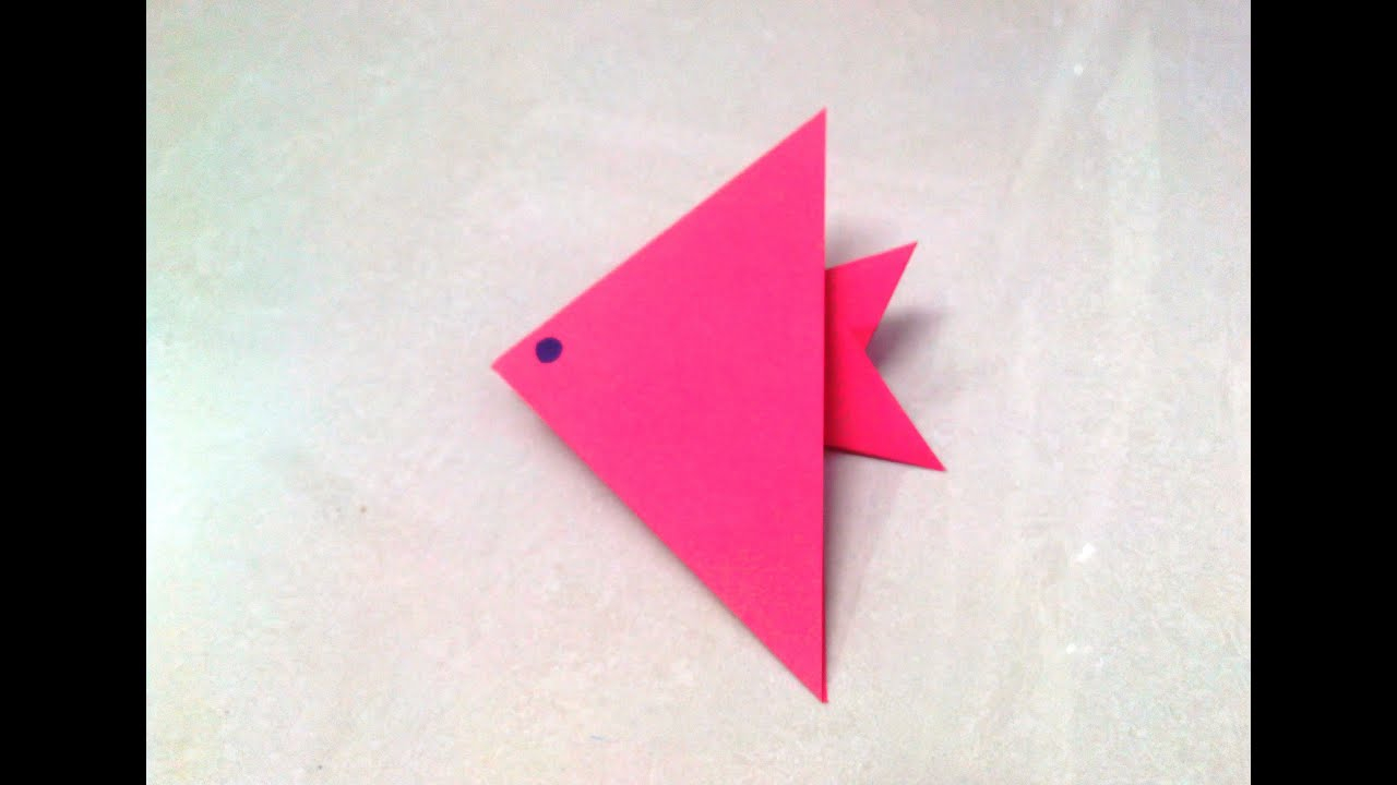 Origami Paper Images How To Make An Origami Paper Fish 1 Origami Paper Folding Craft Videos And Tutorials