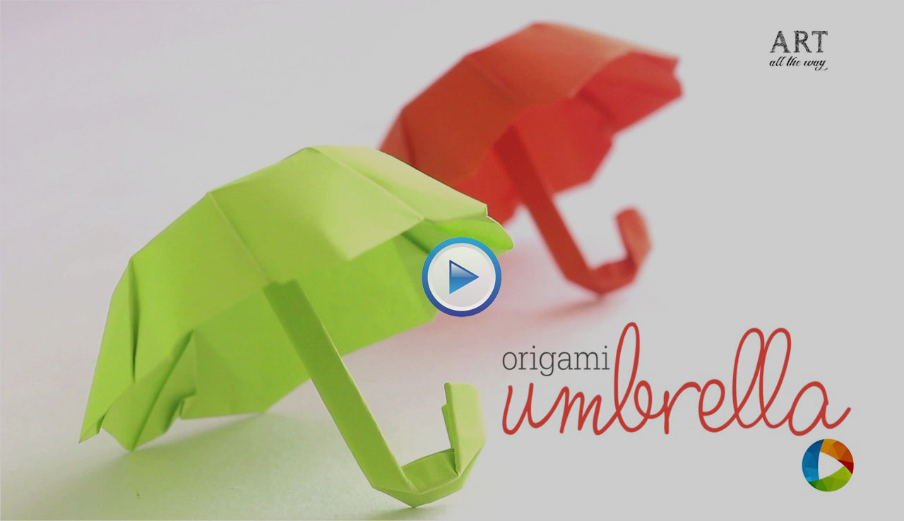 Origami Paper Images How To Make An Origami Paper Folding Umbrella Video
