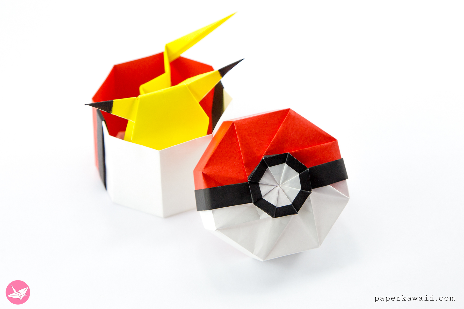 Origami Paper Images Origami Pokeball Box Tutorial Paper Kawaii