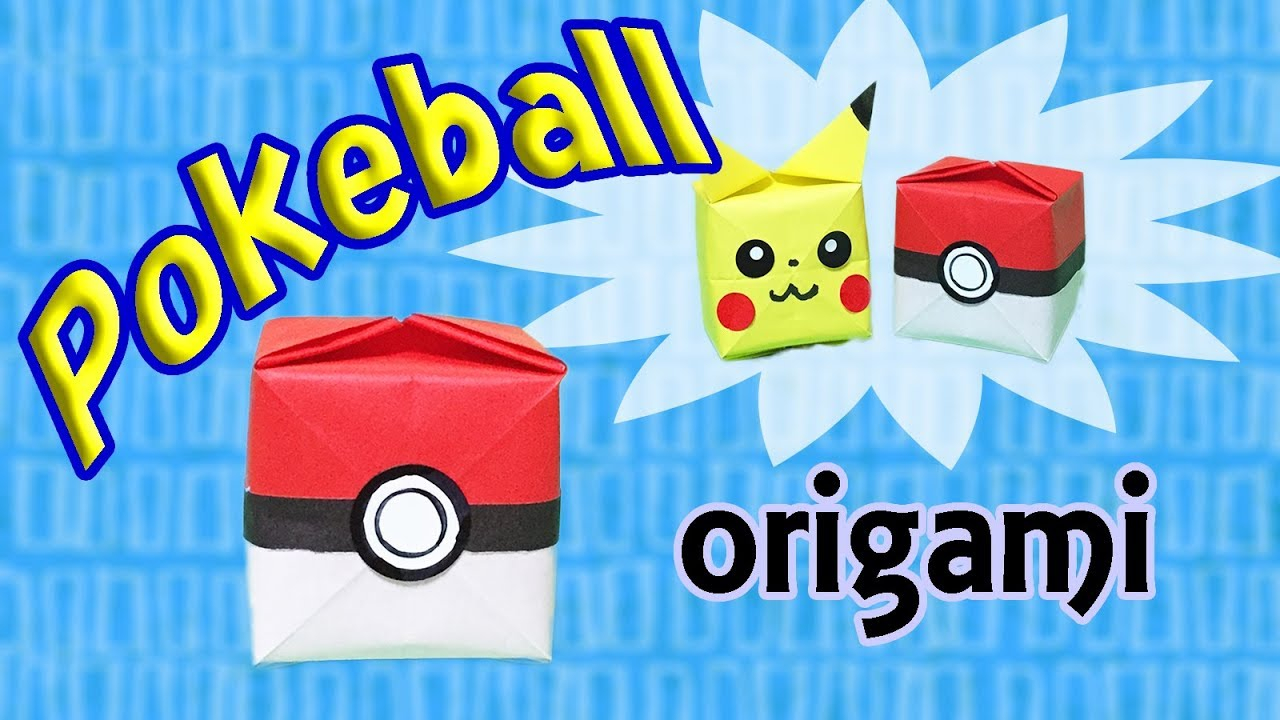 Origami Pokeball Instructions How To Make A Paper Pokeball Origami Pokemon Pokeball Tutorial Easy For Kids