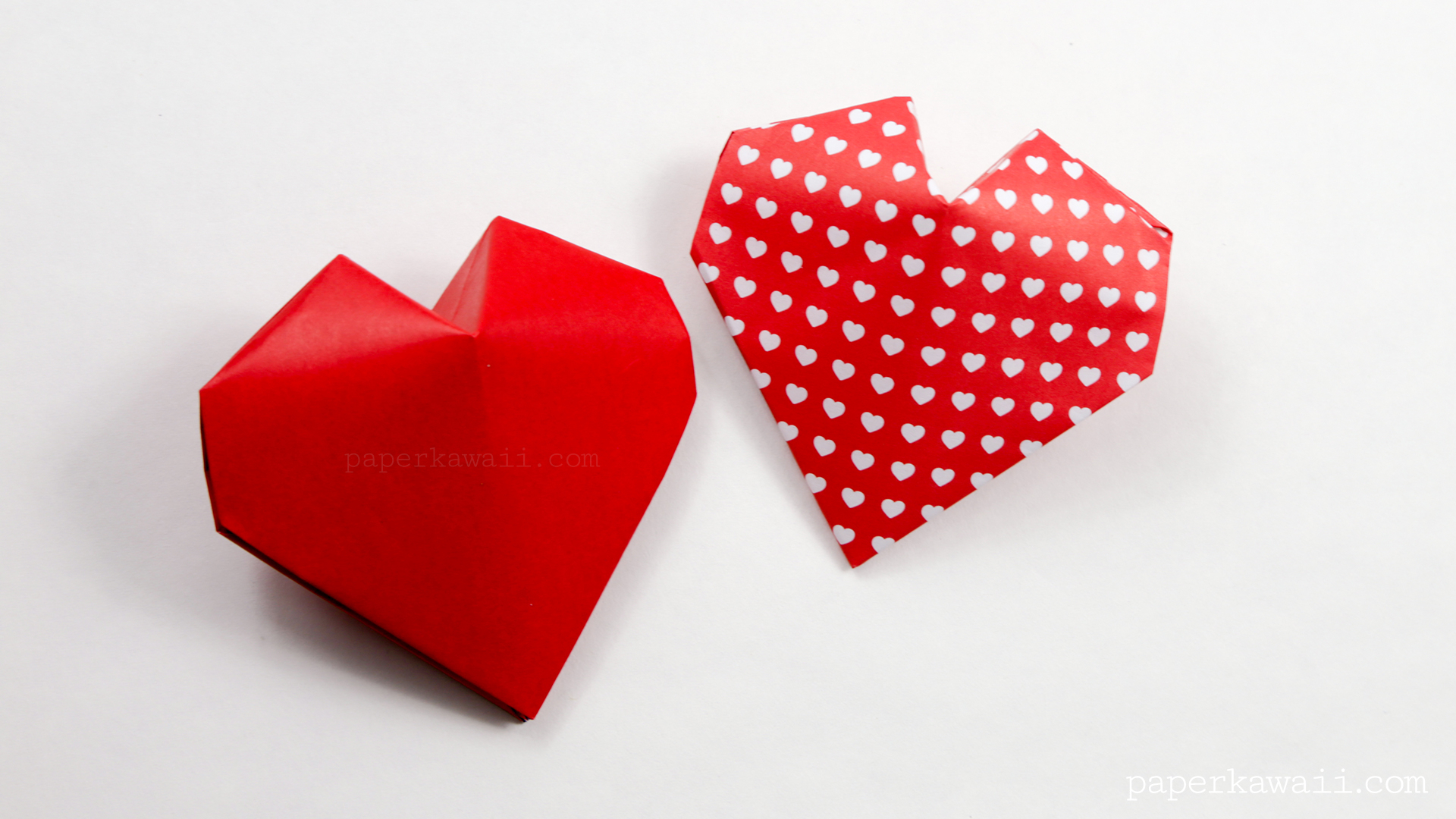 Origami Pokeball Instructions Origami 3d Puffy Heart Instructions Paper Kawaii