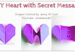 Origami Secret Heart Box Diy Origami Heart Box Envelope With Secret Message Pop Up Heart