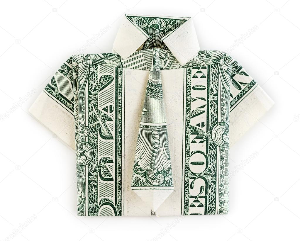 Origami Shirt And Tie Dollar Origami Shirt And Tie Isolated Stock Photo Martinal