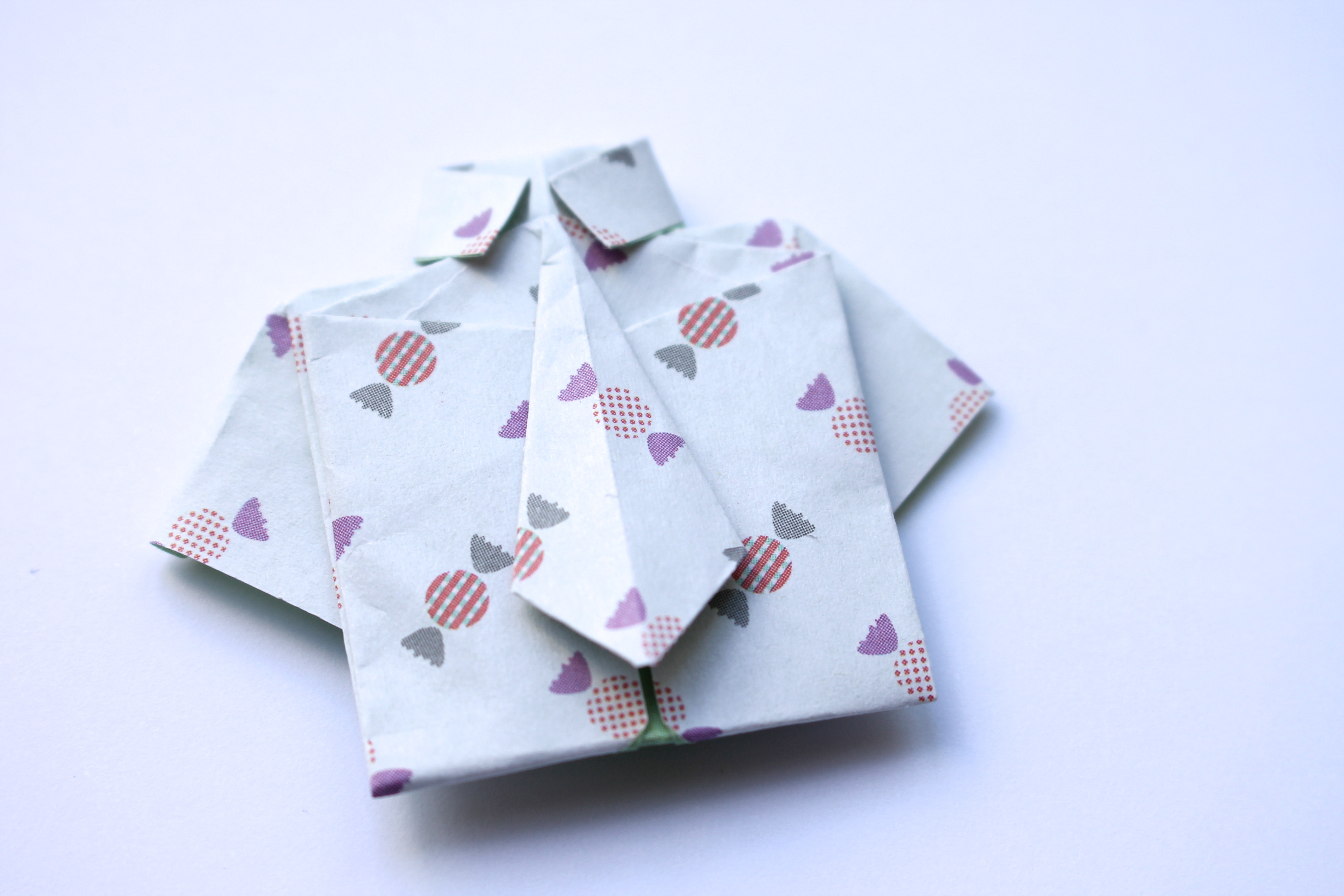Origami Shirt And Tie Happy Fathers Day Itsprettynice