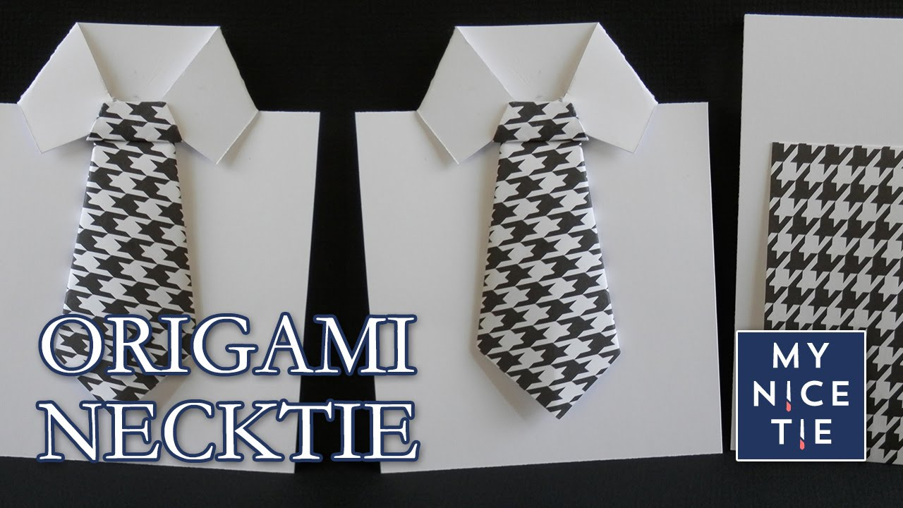 Origami Shirt And Tie How To Fold An Origami Necktie Greeting Card With Origami Shirt