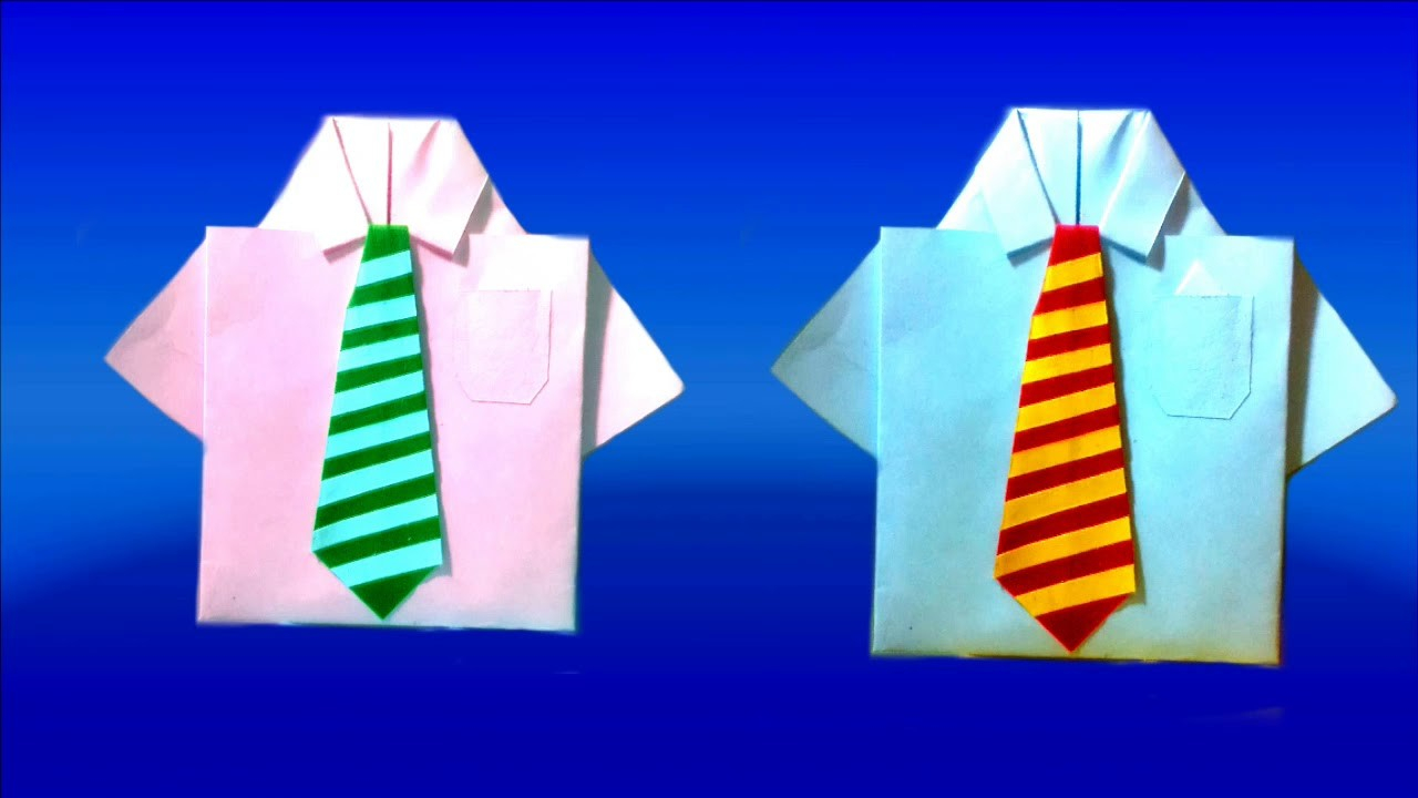Origami Shirt And Tie How To Make A Shirt And Tie Out Of Paper Origami Shirt And Tie