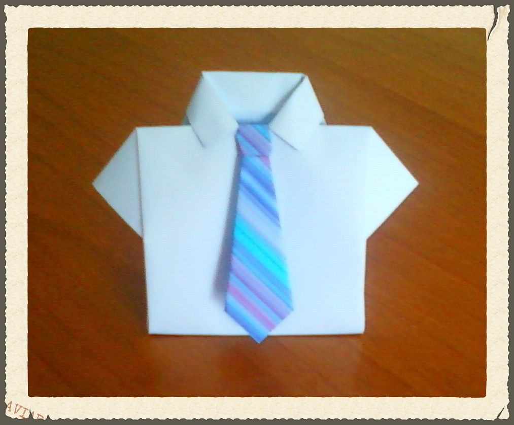 Origami Shirt And Tie Origami Shirt Box With Tie Origami Shirt Box