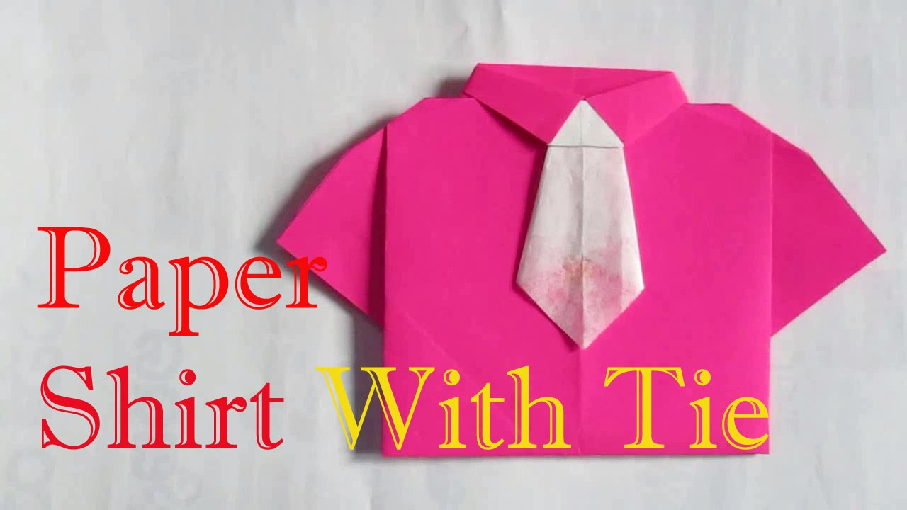 Origami Shirt And Tie Origami Shirt How To Make An Origami Shirt With Tie