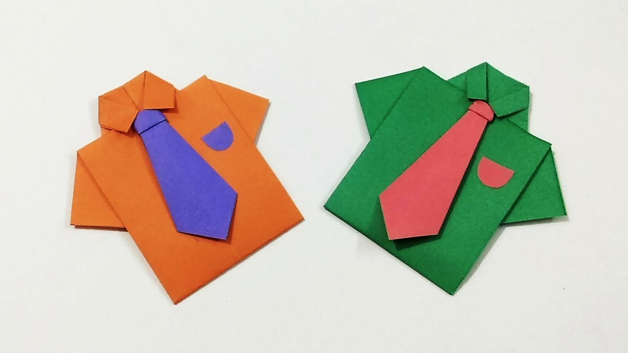 Origami Shirt And Tie Origami Shirt With Tie How To Make A Paper Shirt And Tie Kids Crafts Craftastic