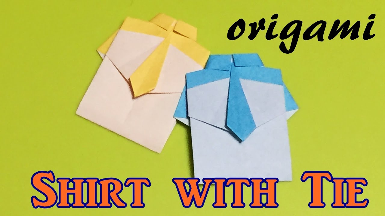 Origami Shirt And Tie Origami Shirt With Tie Step Step How To Make A Paper Shirt With Tie Tutorial Easy For Kids