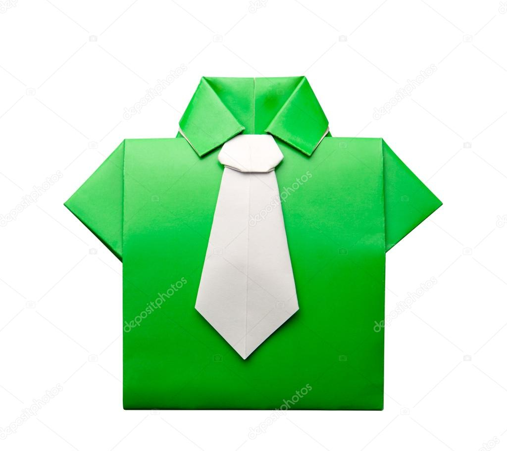 Origami Shirt And Tie Origami Shirt With Tie Stock Photo Nomadsoul1 47022147