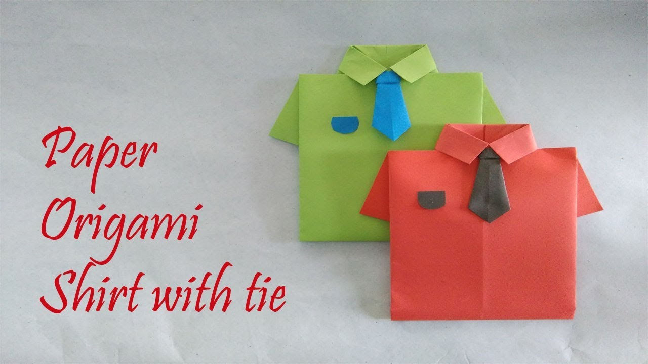 Origami Shirt And Tie Paper Origami Shirt With Tie A4 Paper Diy Nupurs Handicrafts