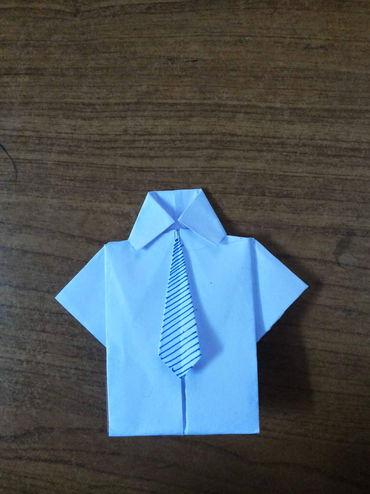 Origami Shirt And Tie Shirt Tie Card