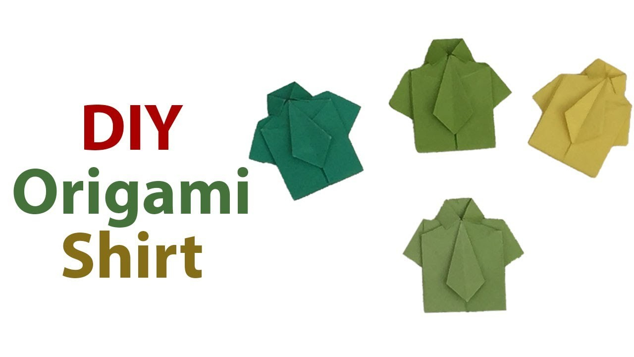 Origami Shirt And Tie Sweet And Cute Origami Shirt With Tie Diy Easy Origami Tutorial