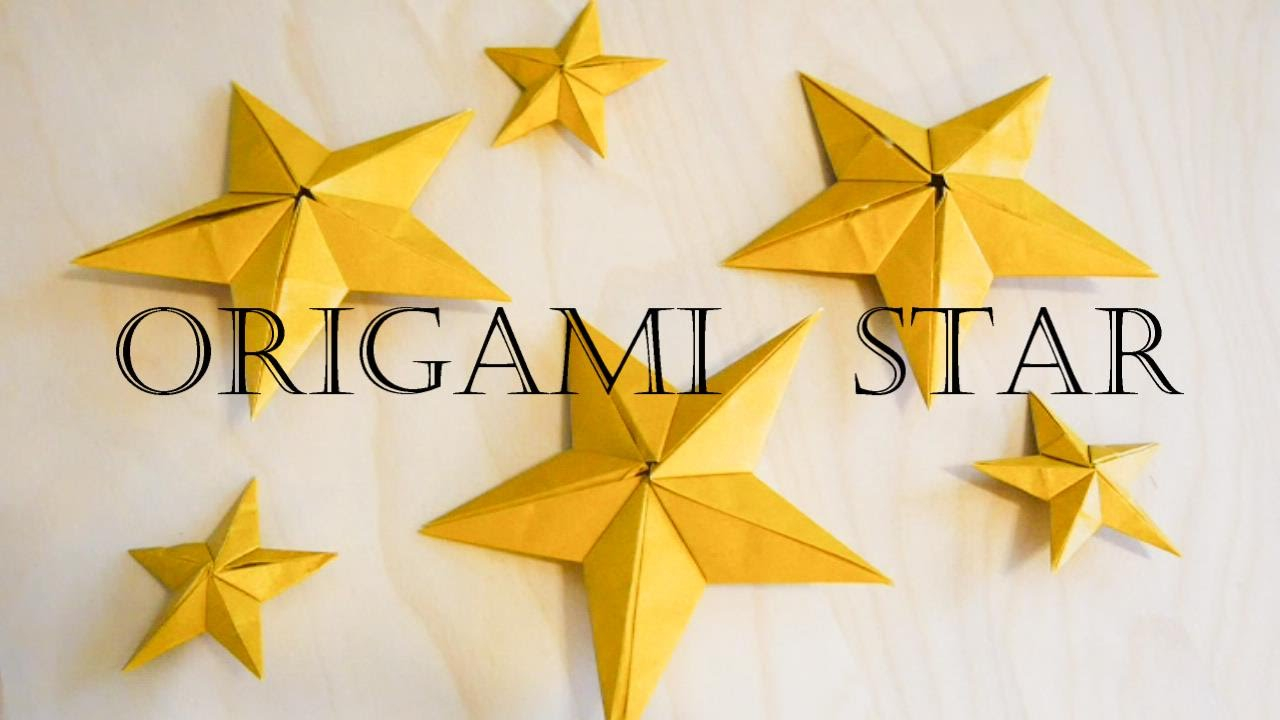 Origami Star Decorations Christmas Decoration Origami Star