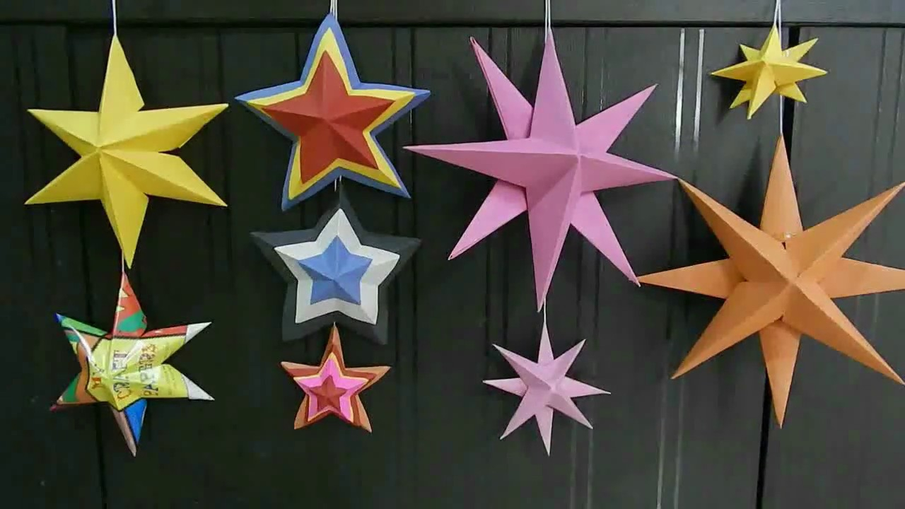 Origami Star Decorations Diy 3d Paper Star Origami Christmas Star Christmas Decorations Paper Decorations