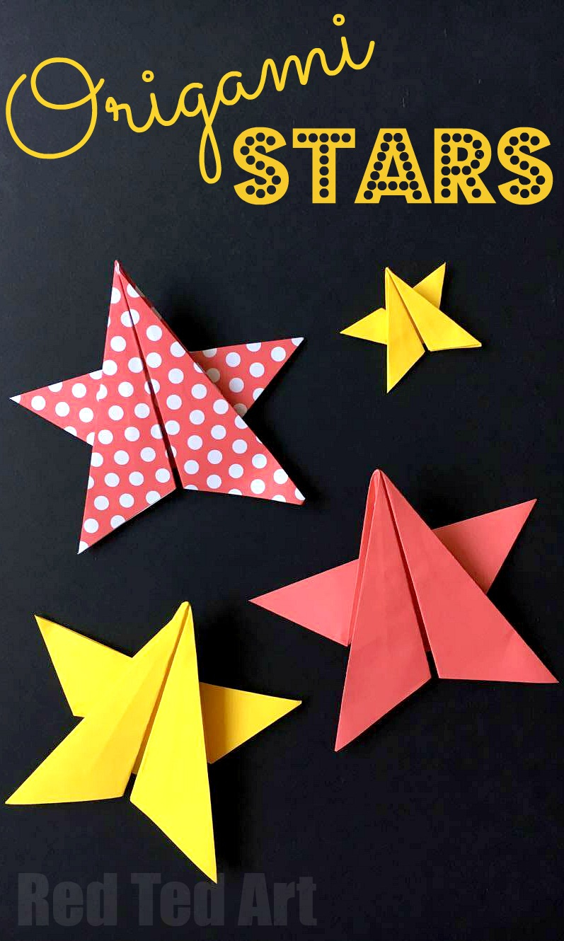Origami Star Decorations Easy Origami Stars Red Ted Art