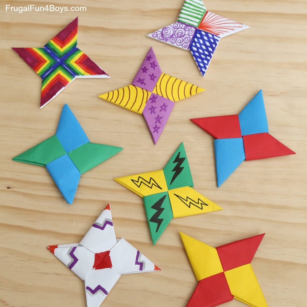 Origami Star Decorations How To Fold Paper Ninja Stars Frugal Fun For Boys And Girls