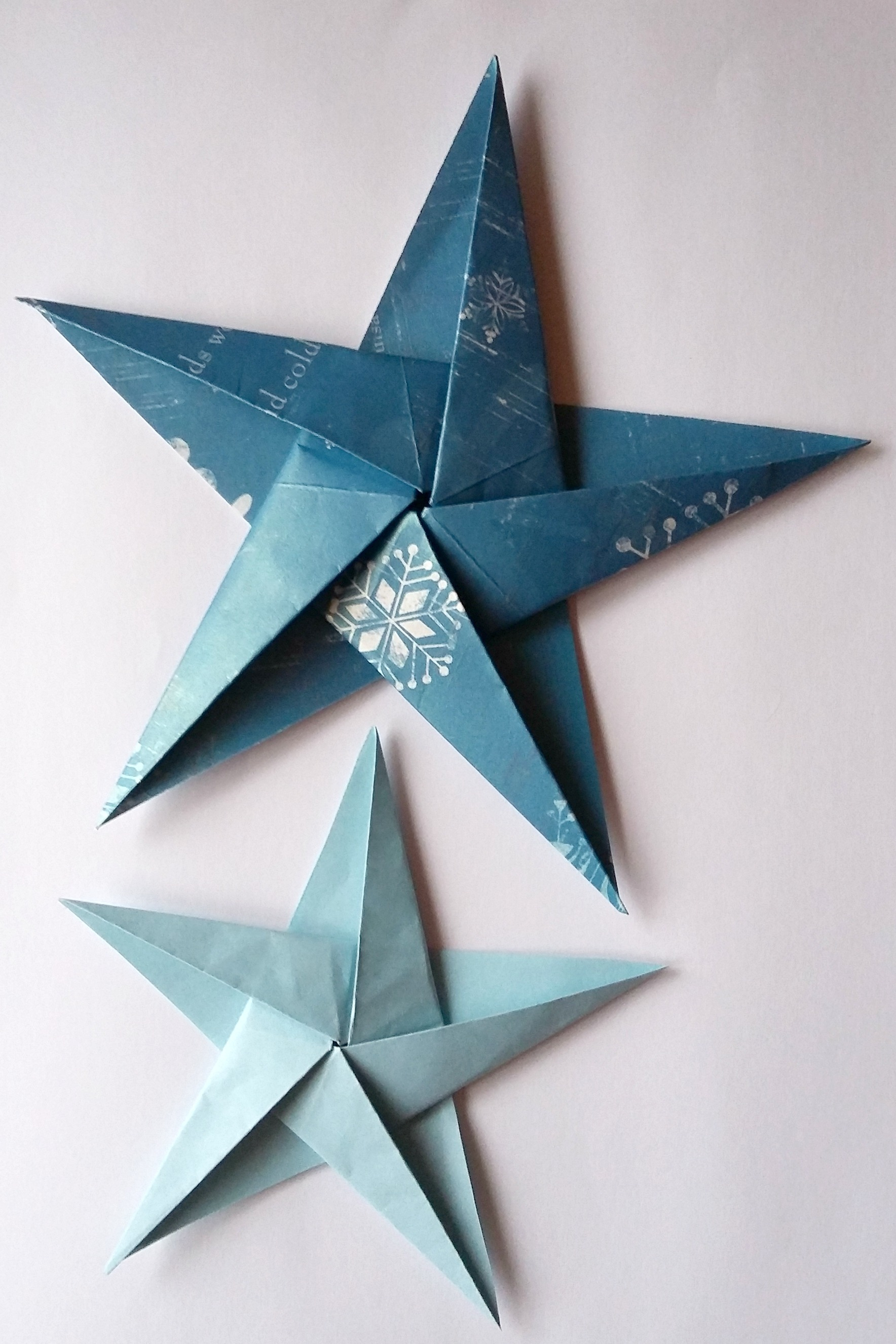 Origami Star Decorations How To Make Folded Paper Christmas Decorations Birch And Button