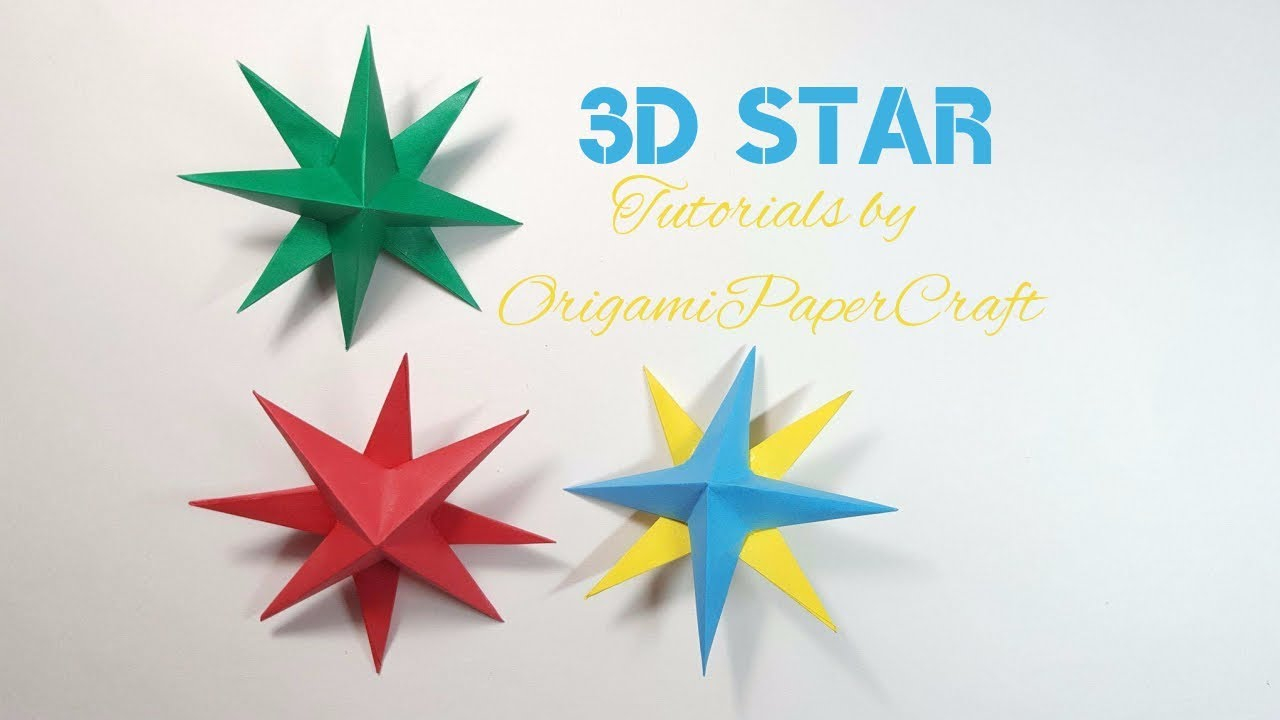 Origami Star Decorations Origami 3d Star Christmas Decorations Origamipapercraft