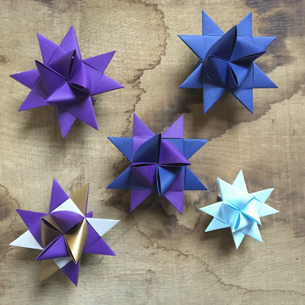 Origami Star Decorations Origami Paper Star Decorations