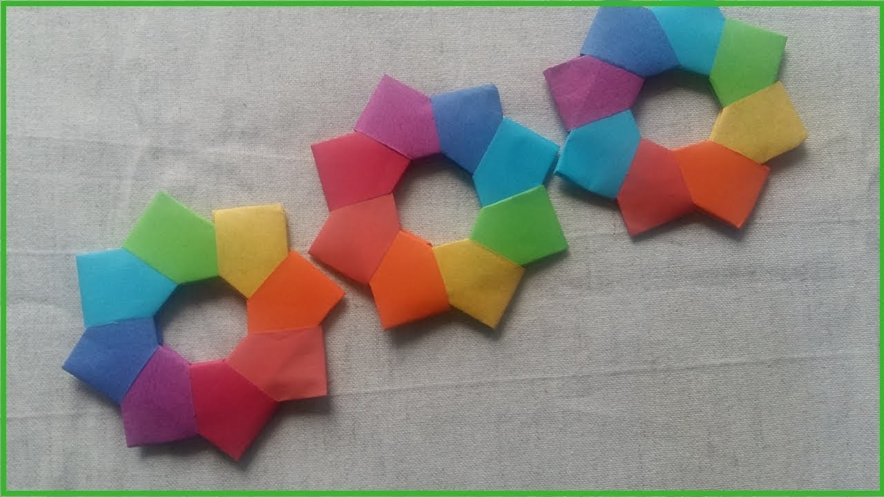 Origami Star Decorations Paper Christmas Decorations How To Make A Christmas Wreath Easy