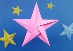Origami Star How To Make How To Make Origami Star Five Pointed Paper Star Instructions