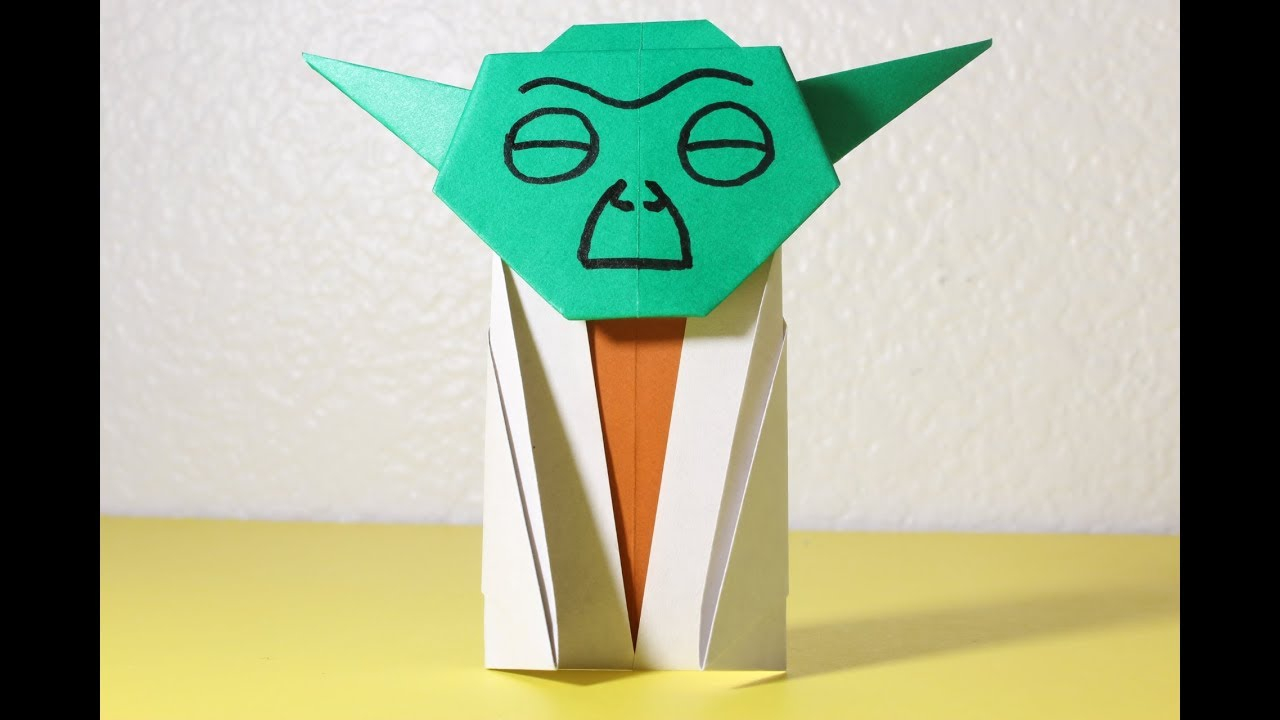 Origami Star Wars Characters Easy Origami Yoda Instructions How To Make Star Wars Origami