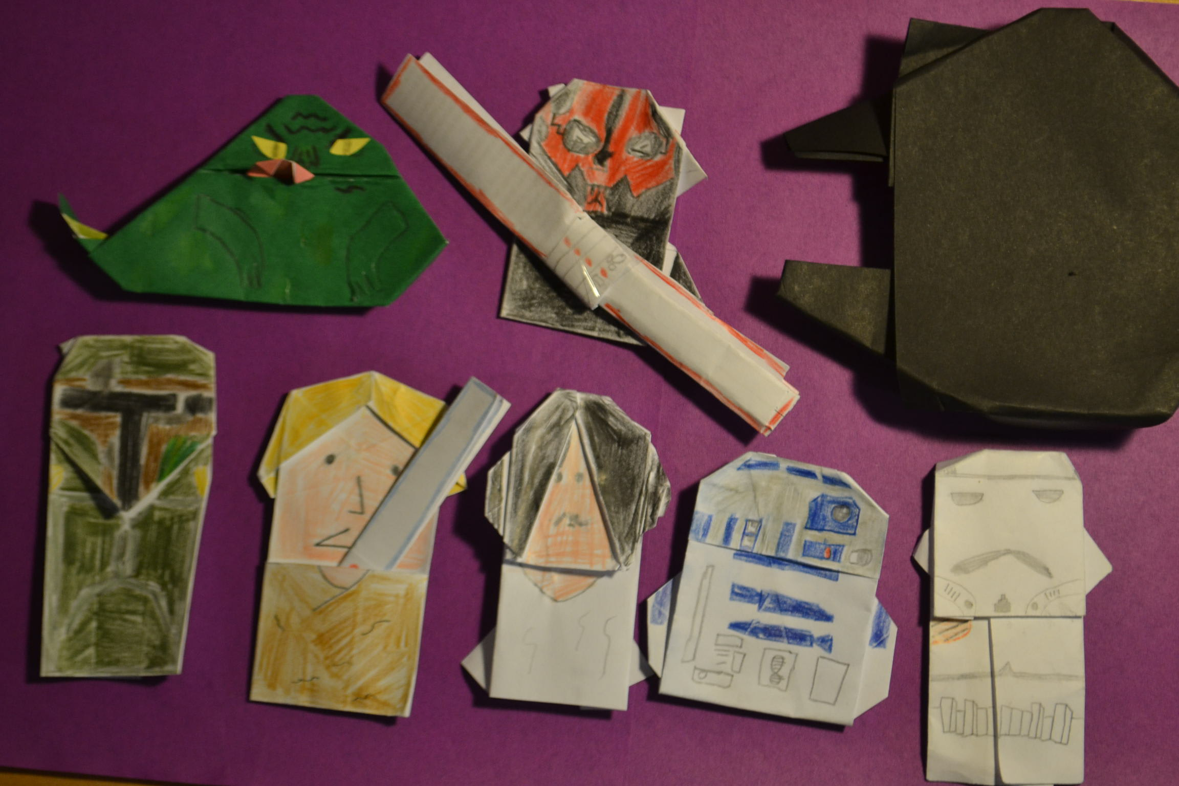 Origami Star Wars Characters Make You Two Star Wars Origami Finger Puppets
