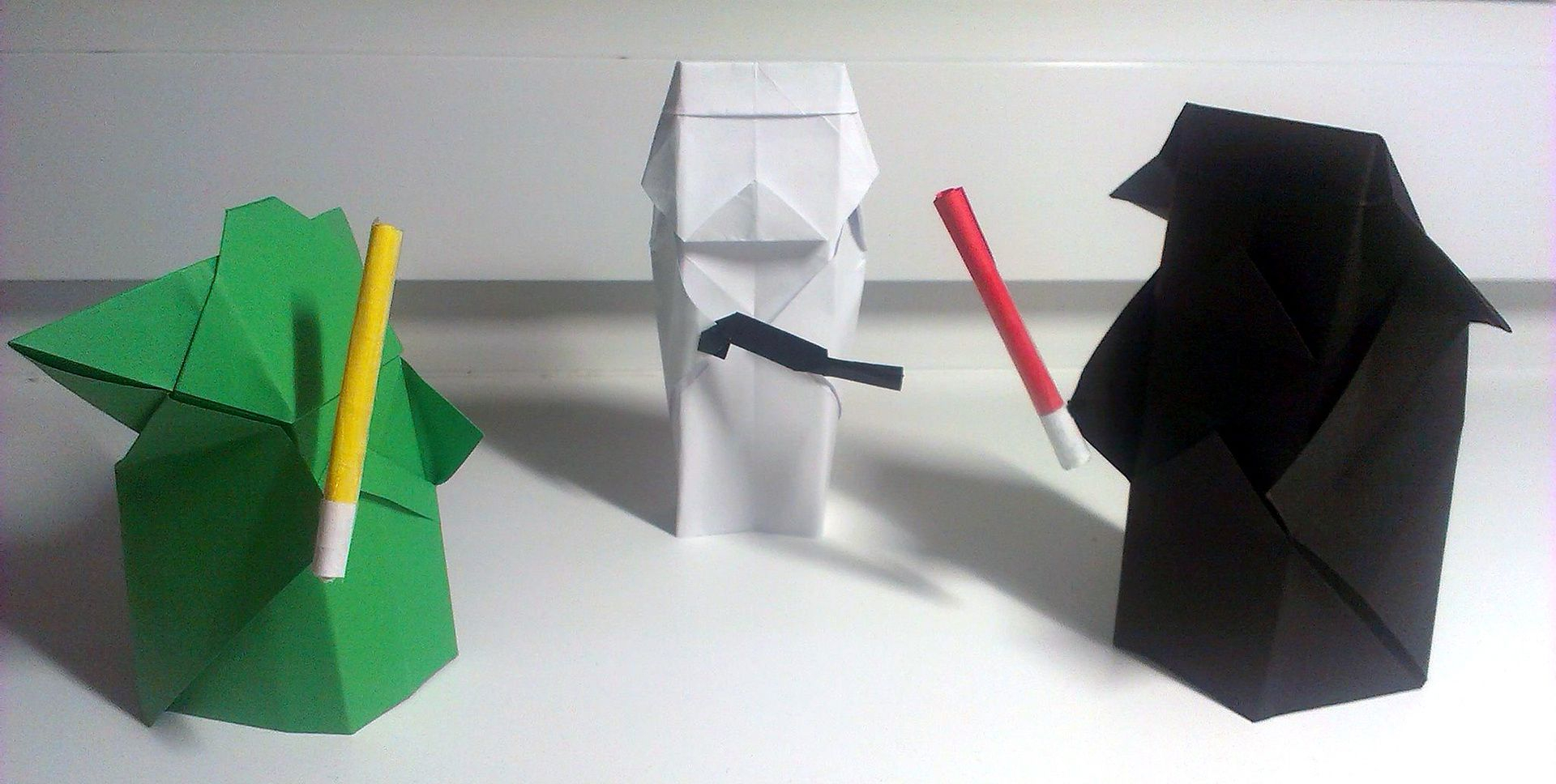 Origami Star Wars Characters Origami Star Wars Characters Yoda Darth Vader And A Stormtrooper