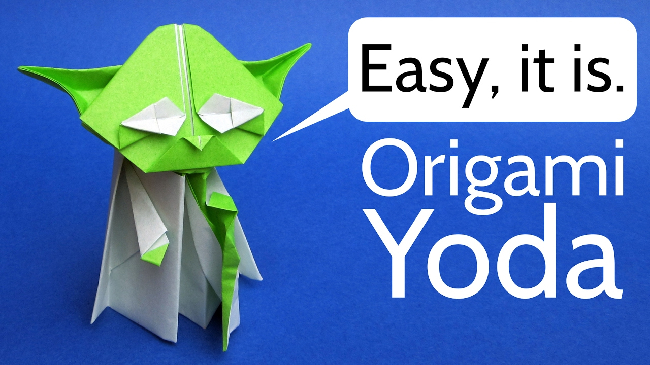 Origami Star Wars Characters Origami Yoda Easy Tutorial Star Wars Origami