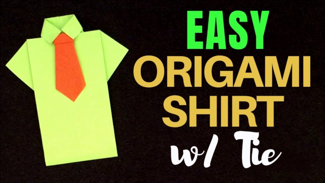 Origami T Shirt With Tie Easy Origami Shirt W Tie How To Make Paper Tee With Tie Diy Origami Tutorial For Beginners