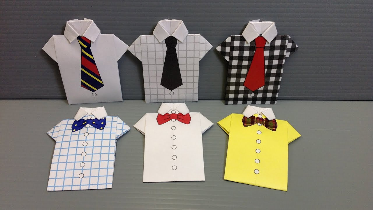 Origami T Shirt With Tie Free Origami Shirt Paper Print Your Own Shirts And Ties