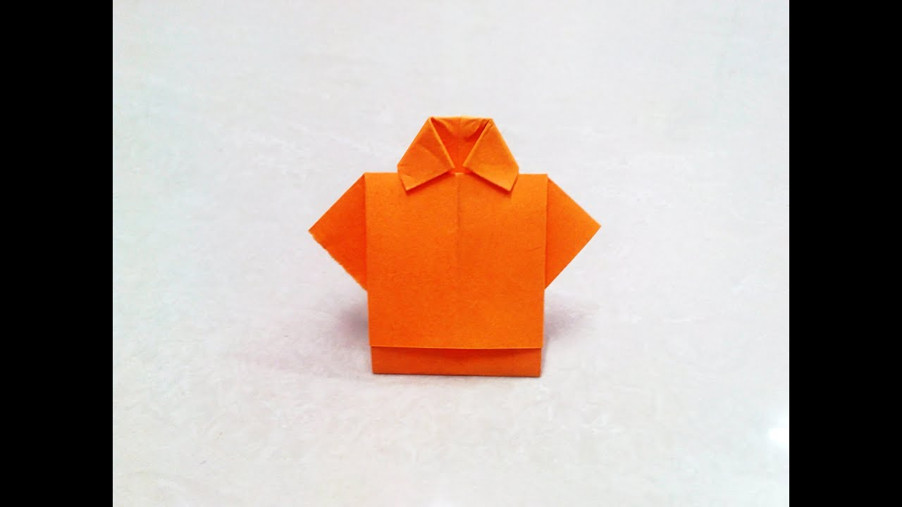 Origami T Shirt With Tie How To Make Origami Paper Dress 1 Origami Paper Folding Craft Videos Tutorials