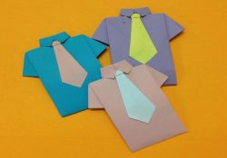 Origami T Shirt With Tie How To Make Paper Shirt And Neck Tie Easy Origami Shirts For Beginners Making Diy Paper Crafts