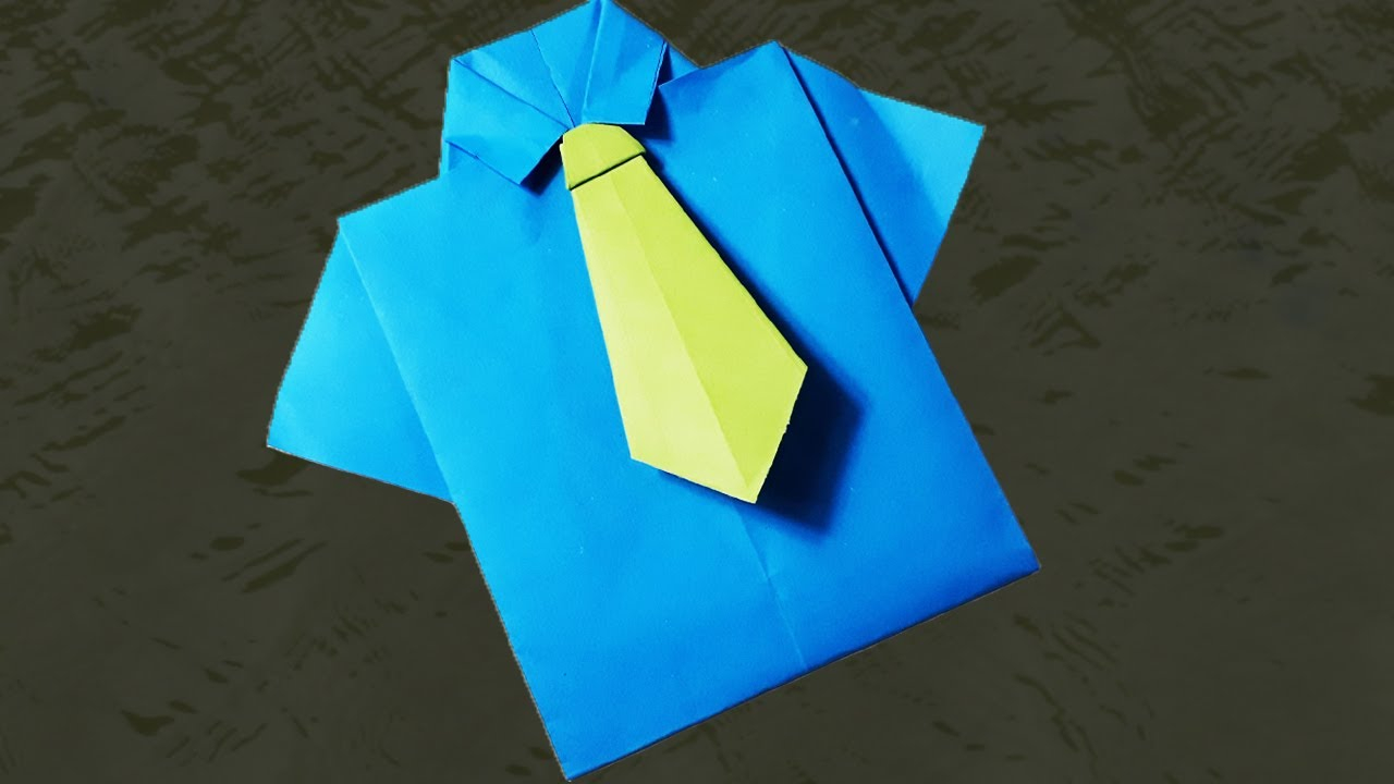 Origami T Shirt With Tie How To Make Paper Shirt And Tie Easy Paper Crafts Origami Tutorial For Paper T Shirts