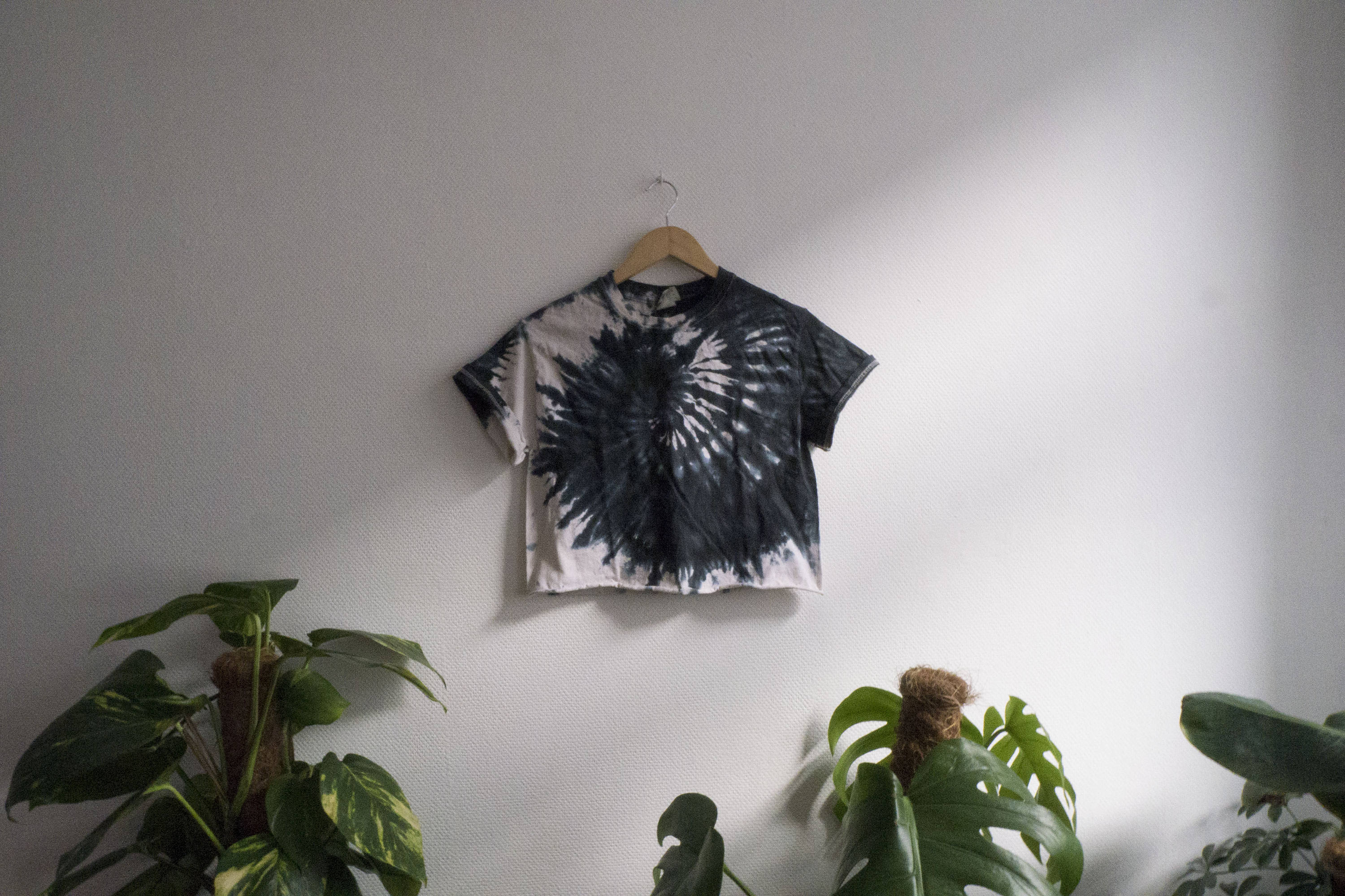 Origami T Shirt With Tie Organic Cotton Tee The Black Snake Tie Dye Crop Shirttop Hipster