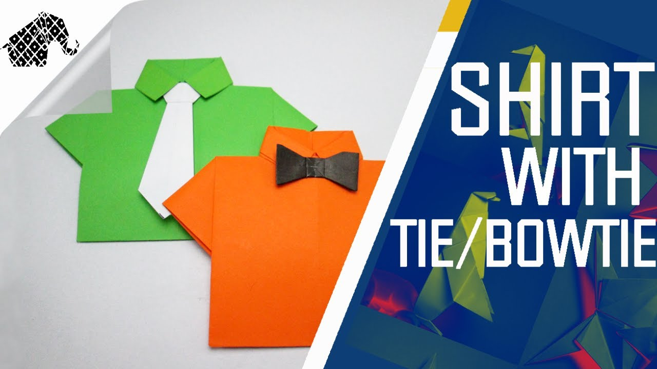 Origami T Shirt With Tie Origami How To Make Shirt With Tiebowtie