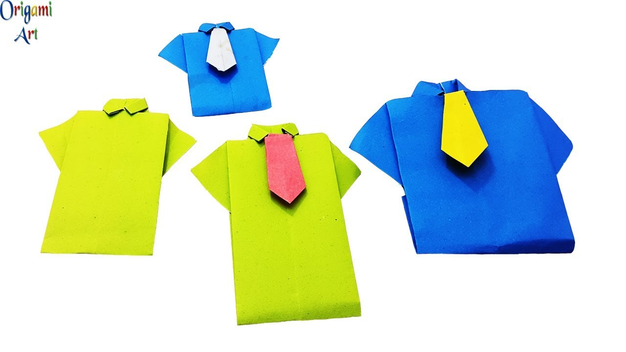 Origami T Shirt With Tie Origami Shirt And Tie Instructions Easy Diy Paper Shirt Tutorial For Children