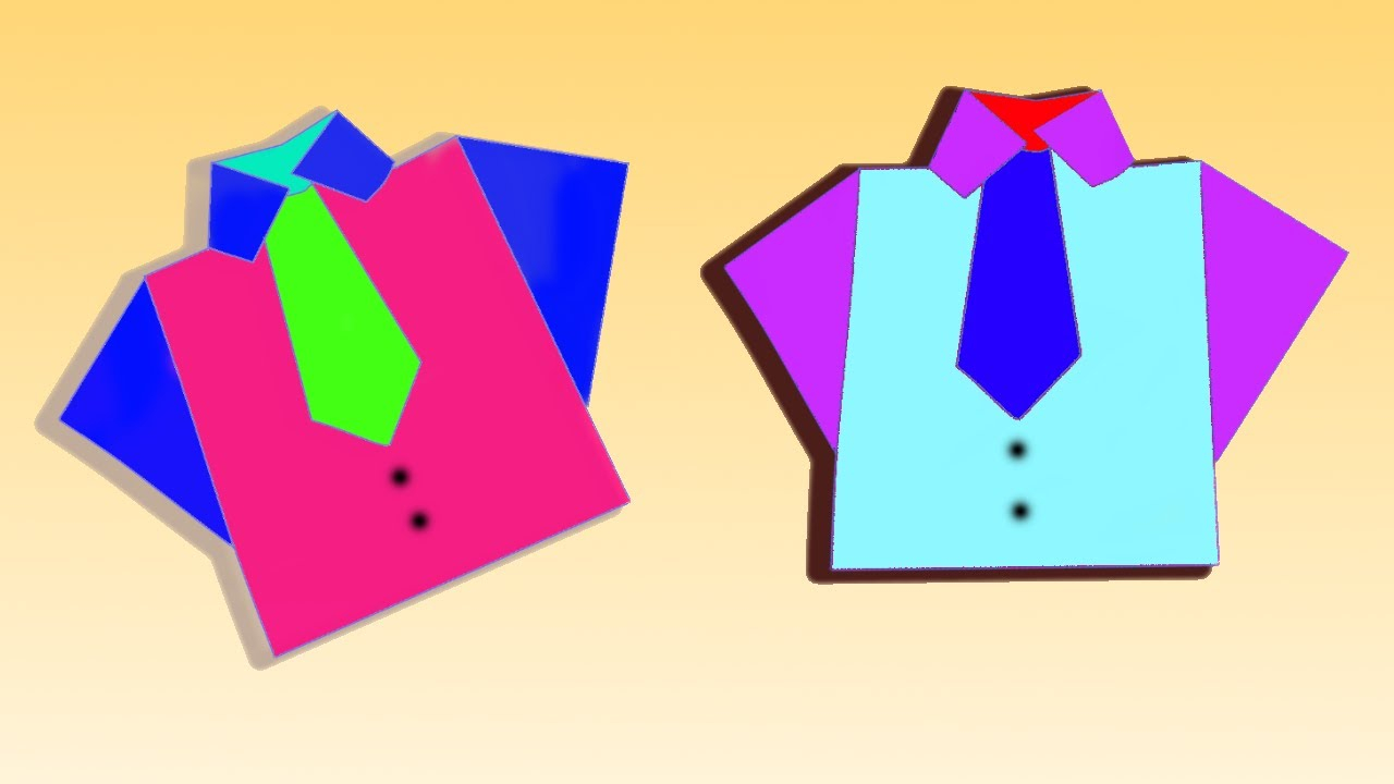 Origami T Shirt With Tie Origami Shirt How To Make A Paper Shirt And Tie Origami T Shirt Neck Tie Making Easy Origami
